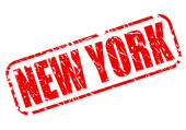 New York red stamp text — Stok Vektör
