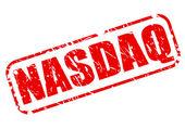NASDAQ red stamp text — 图库矢量图片