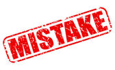 Mistake red stamp text — Stock Vector