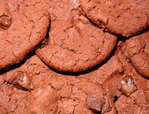 Texture of dark chocolate cookie — Foto Stock