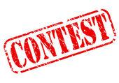 Διαγωνισμός κόκκινη σφραγίδα κειμένου — Διανυσματικό Αρχείο