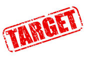 Target red stamp text — Stock Vector