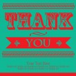 Stock Vector: Thank you card design. vector illustration