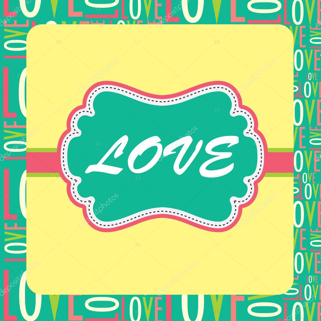Cute love card design. vector illustration — Stockvectorbeeld #12834898