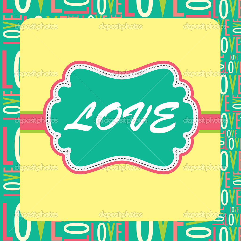 Cute love card design. vector illustration  Stock Vector #12834898