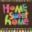 Royalty-Free Stock Vector Image: Home sweet home card. vector illustration