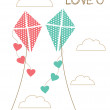 Love card design. vector illustration — Vettoriali Stock