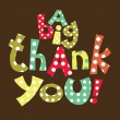 Stockvector : Thank you card design. vector illustration