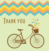 Thank you card design. vector illustration — ストックベクタ