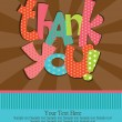 Thank you card design. vector illustration - Stock Vector