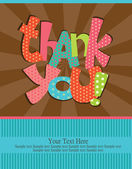 Thank you card design. vector illustration — Vettoriale Stock