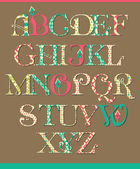 Alphabet in vintage style — Stock Vector