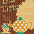Tea party card. vector illustration - Stock Vector