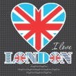 I love London card design. vector illustration — Imagen vectorial