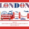 Stock Vector: London card design. vector illustration