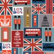 Stock Vector: London seamless pattern design. vector illustration