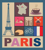 Paris card design. vector illustration — Stock Vector