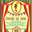 Circus card design. vector illustration - Stock Vector