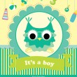 Baby shower card design. vector illustration — ストックベクタ