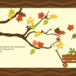 Thanksgiving background.Vector — Imagen vectorial