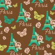 Brown abstract wallpaper.Paris - Stock Vector