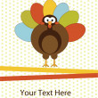 Stock Vector: Thanksgiving turkey