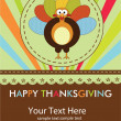 Royalty-Free Stock Vektorfiler: Happy Thanksgiving cute material turkey card in vector format.