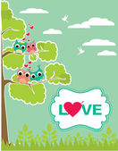 Cute love card design. vector illustration — Stock Vector