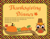 Thanksgiving Card.Vector — Stock Vector