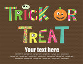 Trick or Treat Halloween text — Vector de stock
