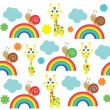 Seamless kid pattern.vector illustration — Stock Vector