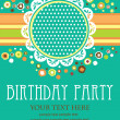 Kid invitation card design. vector illustration - Vettoriali Stock