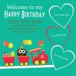 Vettoriale Stock : Kid invitation card design. vector illustration