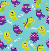 Monster pattern design. Vector illustration — Stock Vector