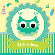 Baby shower card design.  — 图库照片