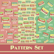 Retro pattern collection. — Stock Photo