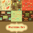 Retro pattern collection. - Stok fotoğraf