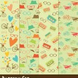 Stock Photo: Retro pattern collection