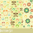 Retro pattern collection — Stock Photo