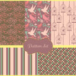Vintage pattern set — Stock Photo