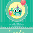 Baby shower card design. - Stok fotoğraf