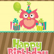 Happy birthday card design - Foto Stock