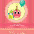 Baby shower card design. — Stock Photo
