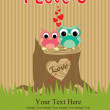 Cute love card design. — Stockfoto