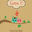 Cute love card design. — 图库照片