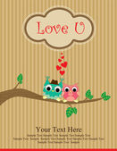 Cute love card design. — Stock Photo