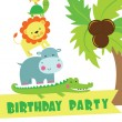 Happy birthday card design. — Stock Vector #21753229