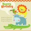 Happy birthday card design. - Stock Vector