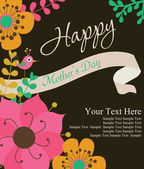 Happy mothers day card design — Stock Vector