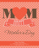 Happy mothers day card design. — Stock Vector